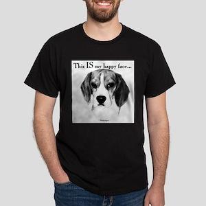Beagle Happy Face Ash Grey T-Shirt
