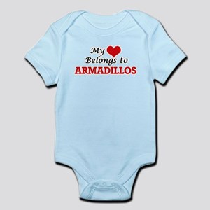 My heart belongs to Armadillos Body Suit