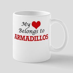 My heart belongs to Armadillos Mugs