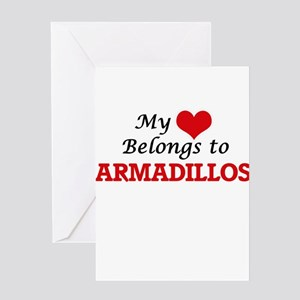 My heart belongs to Armadillos Greeting Cards