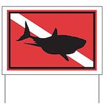 Shark Diving Flag Yard Sign