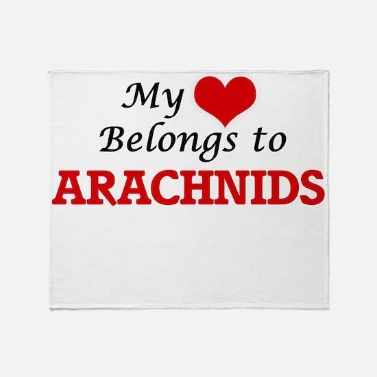 My heart belongs to Arachnids Throw Blanket