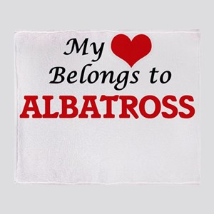 My heart belongs to Albatross Throw Blanket