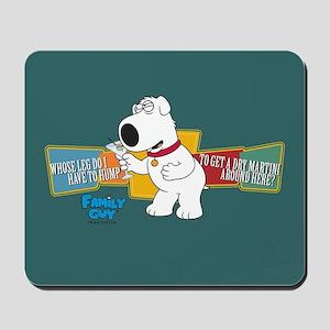 Family Guy Brian Martini Mousepad