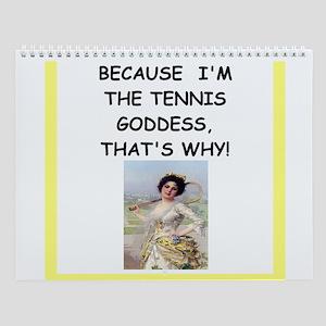 Women's Tennis Player Wall Calendar