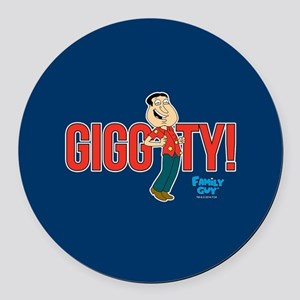 Family Guy Giggity Round Car Magnet