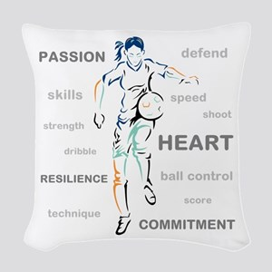What is Soccer? Woven Throw Pillow