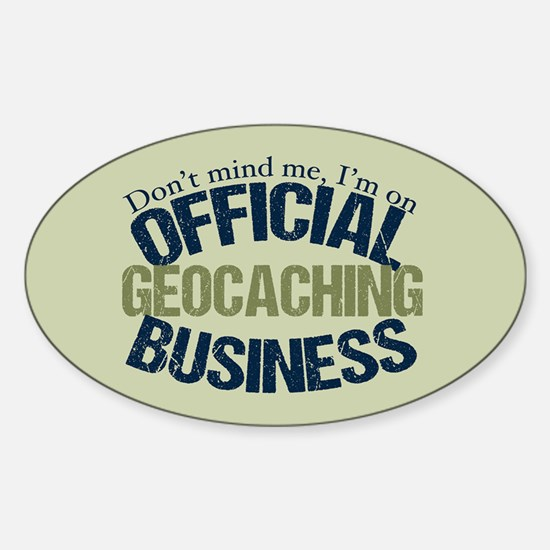 Geocaching Sticker (Oval)