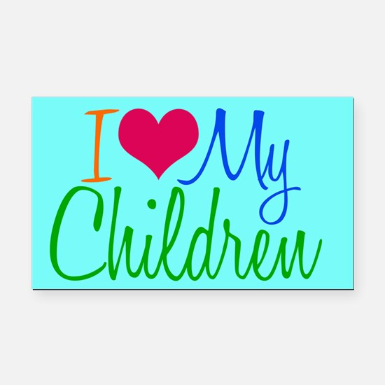 I Love My Children Rectangle Car Magnet
