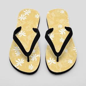 Maeva Pareo - Mustard Flip Flops