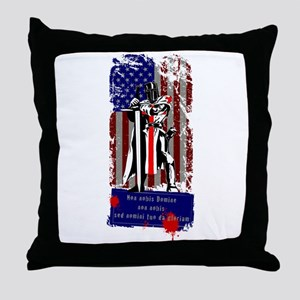 American Knights Templar Throw Pillow