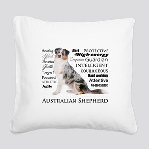 Aussie Traits Square Canvas Pillow