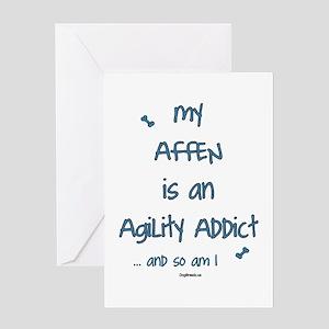Affen Agility Addict Greeting Card
