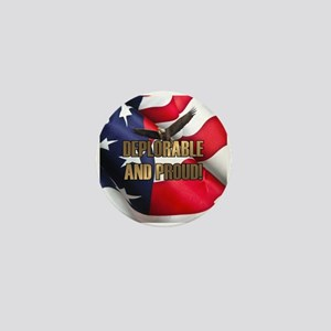 DEPLORABLE AND PROUD Mini Button