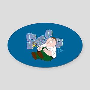 Family Guy Peter Sssss Oval Car Magnet