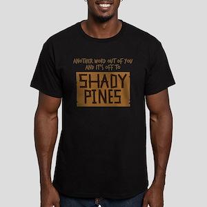 Shady Pines Men's Fitted T-Shirt (dark)