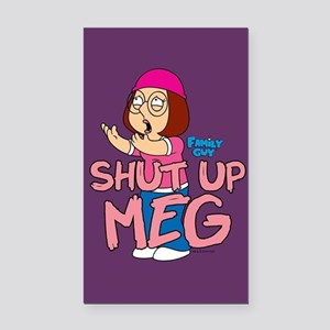 Family Guy Shut Up Meg Rectangle Car Magnet