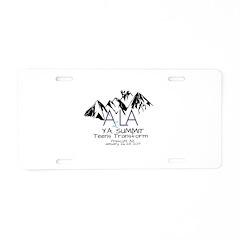 YA Summit 2017 Aluminum License Plate
