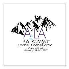 YA Summit 2017 Square Car Magnet 3