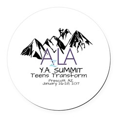 YA Summit 2017 Round Car Magnet