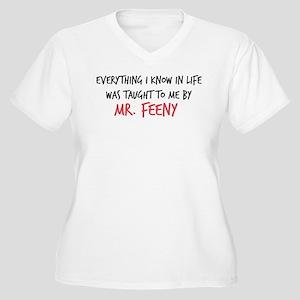 Mr. Feeny Taught Women's Plus Size V-Neck T-Shirt