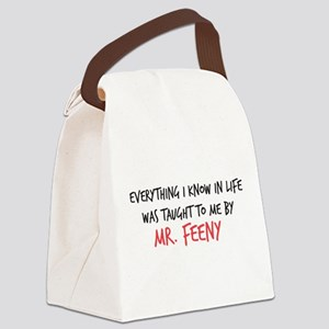 Mr. Feeny Taught Me Canvas Lunch Bag