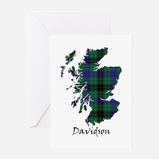 Map - Davidson Greeting Card