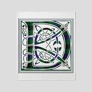 Monogram - Davidson Throw Blanket