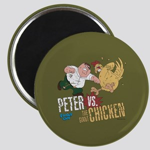 Family Guy Peter vs. The Giant Chicken Magnet