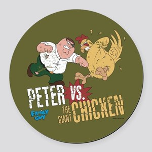 Family Guy Peter vs. The Giant Ch Round Car Magnet