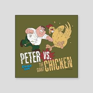 "Family Guy Peter vs. The Gi Square Sticker 3"" x 3"""