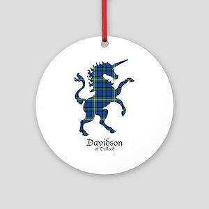 Unicorn-DavidsonTulloch Round Ornament