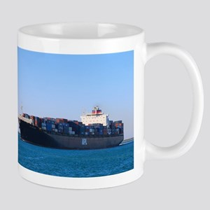 Container cargo ship 6 Mugs