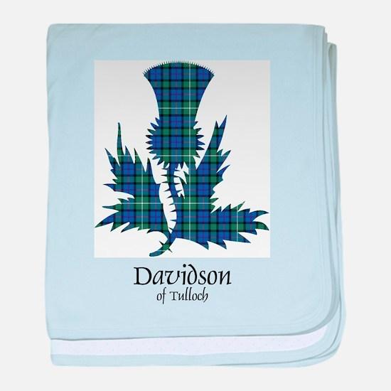 Thistle - Davidson of Tulloch baby blanket