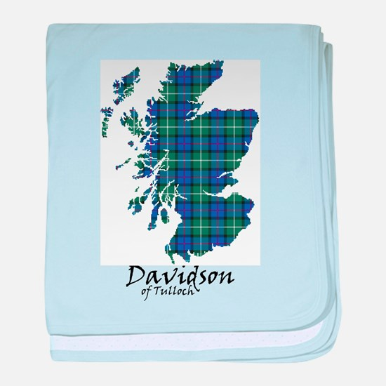 Map - Davidson of Tulloch baby blanket