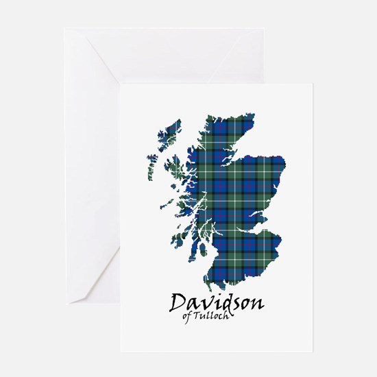 Map - Davidson of Tulloch Greeting Card