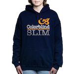 ColorblindSlimLogoWhite Women's Hooded Sweatshirt