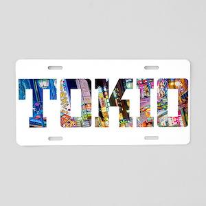 Tokio Japan Typography Aluminum License Plate