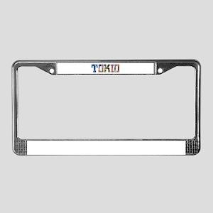 Tokio Japan Typography License Plate Frame