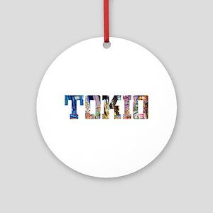 Tokio Japan Typography Round Ornament