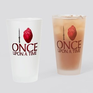 I Heart Once Upon a Time Drinking Glass