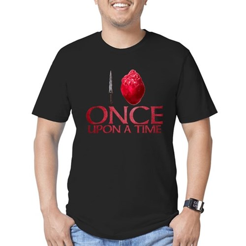 I Heart Once Upon a Time Men's Dark Fitted T-Shirt