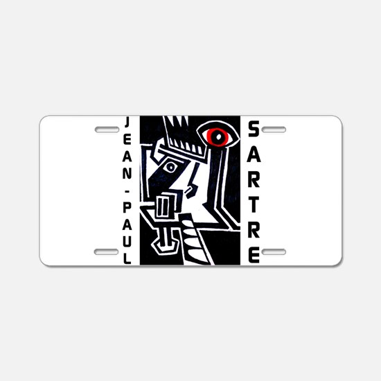 Jean-Paul Sartre Aluminum License Plate