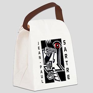 Jean-Paul Sartre Canvas Lunch Bag