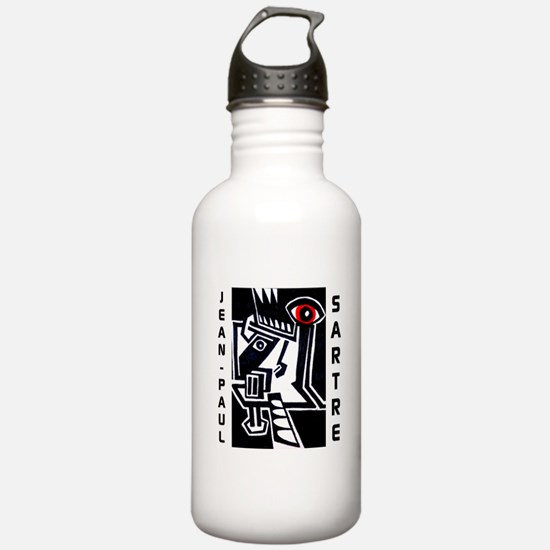 Jean-Paul Sartre Water Bottle