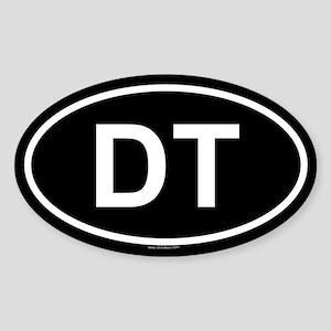 DT Oval Sticker