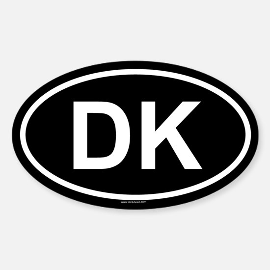 DK Oval Decal