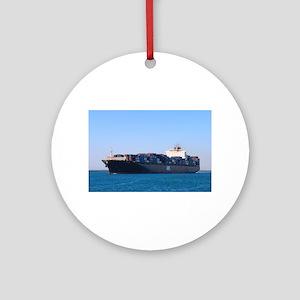 Container cargo ship 6 Round Ornament