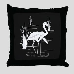 Flamingo Silhouette Throw Pillow