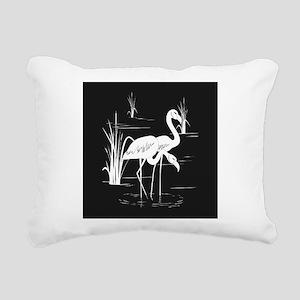 Flamingo Silhouette Rectangular Canvas Pillow